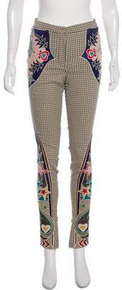 Mary Katrantzou Mid-Rise Embroidered Pants