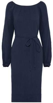 Raquel Allegra Peasant Crinkled Cotton-Gauze Dress
