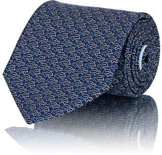 Salvatore Ferragamo Men's Ombré-Turtle-Print Silk Twill Necktie