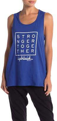 THE PHLUID PROJECT Stronger Together Graphic Muscle Tank