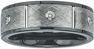 FINE JEWELRY Mens 1/5 CT. T.W. Diamond, Ceramic and Tungsten Band Ring