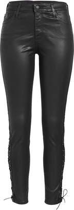 AG Jeans Farrah Ankle Side Lace-Up Faux Leather Pants
