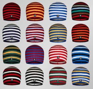 Savile Rogue Men's Multistripe Cashmere Beanie Hat In Team Colours
