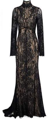J. Mendel J.mendel Embellished Embroidered Cotton-Blend Lace Gown