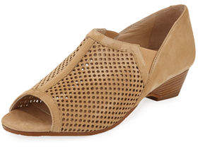 Amalfi by Rangoni Dinamo Perforated Suede Sandals