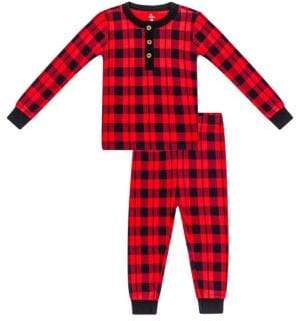 Petit Lem Baby Boy's Two-Piece Holiday Plaid Cotton Pajama Set
