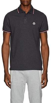Moncler Men's Striped Cotton Piqué Polo Shirt
