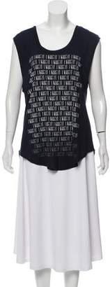 Haute Hippie Graphic Sleeveless T-Shirt