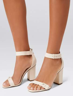Forever New Louisa Mid Block Heels - Cream - 37