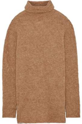 Iris & Ink Tamsin Mélange Knitted Turtleneck Sweater