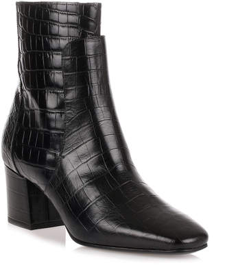 Givenchy Black croc-embossed ankle boot
