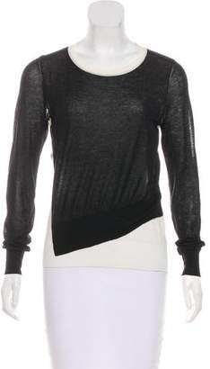 Cédric Charlier Colorblock Asymmetrical Sweater