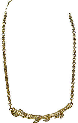 One Kings Lane Vintage Givenchy Carved Branch Crystal Necklace - Wisteria Antiques Etca