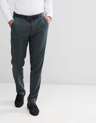 Asos DESIGN Skinny Suit Pants In Forest Green