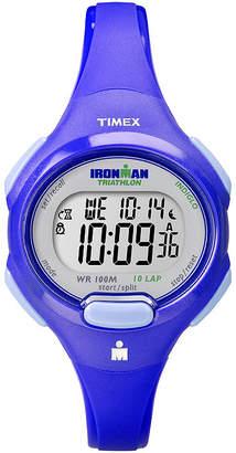 Timex Ironman Womens 10-Lap Blue Strap Watch