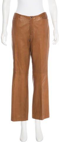 Ralph Lauren Leather High-Rise Pants