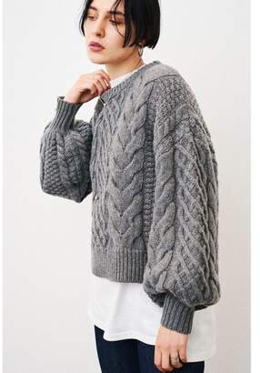 CLANE (クラネ) - Clane Cable Puff Knit Tops