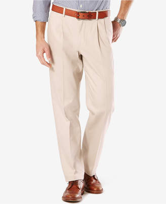 Dockers Stretch Classic Pleated Fit Signature Khaki Pants D3
