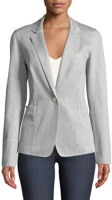 Lafayette 148 New York Bridget Denim Twill Jersey Blazer