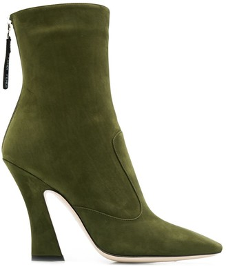 Fendi square toe ankle boots