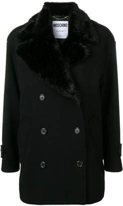 Moschino winter double-breasted coat