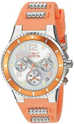 Invicta Women's 'BLU' Quartz Stainless Steel and Silicone Casual Watch