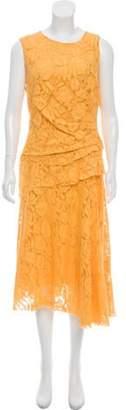 Oscar de la Renta Lace Ruched Dress w/ Tags Lace Ruched Dress w/ Tags