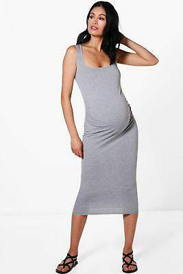 boohoo NEW Womens Maternity Bodycon Dress in Polyester