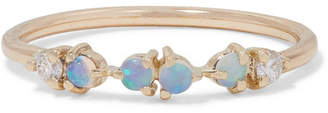 Wwake - 14-karat Gold, Opal And Diamond Ring