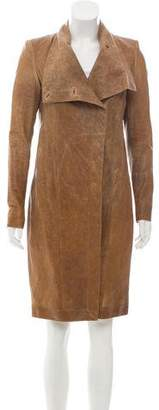 Helmut Lang Structured Leather Coat w/ Tags