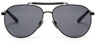 Burberry Milton Aviator Sunglasses - Mens - Black
