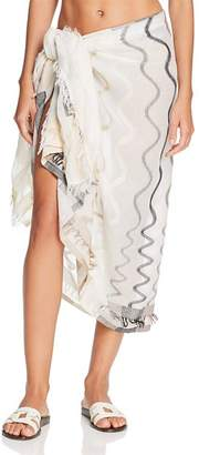 Echo Zigzag Striped Pareo Swim Cover-Up