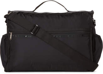 Le Sport Sac Black Convertible Messenger Diaper Bag