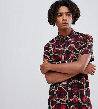 Reclaimed Vintage inspired regular fit chain check shirt
