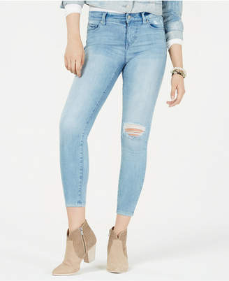 Celebrity Pink Juniors' Distressed Skinny Jeans
