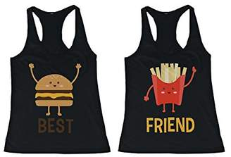 Love Burger and Fries BFF Tank Tops Best Friend Matching Tanks Sleeveless Shirts