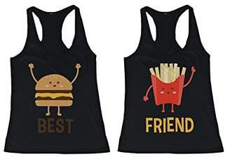 Love Burger and Fries BFF Tank Tops Best Friend Matching Tanks Sleeveless Shirts