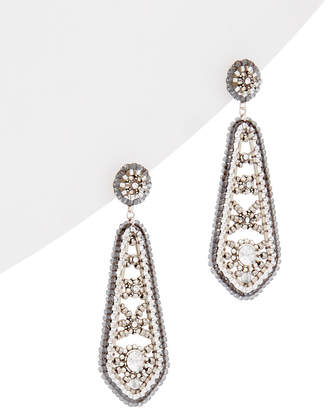 Miguel Ases Silver Crystal Earrings