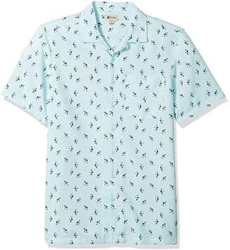 Haggar Men's Big&Tall Short Sleeve Texture Printed Shirts