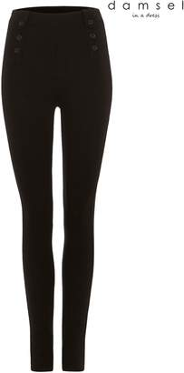 Next Womens Damsel In A Dress Black Cammie Ponte Trouser