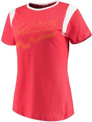 Retro Sport Unbranded Women's Junk Food Red/White Kansas City Chiefs T-Shirt