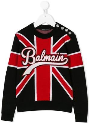 Balmain Kids Union Jack logo sweater