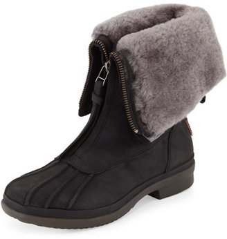 UGG Arquette Waterproof Shearling Boot, Black $120 thestylecure.com