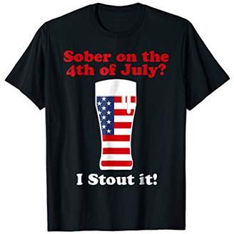 Beer Shirt: Funny 4th of July Craft Brew Stout Drinking Tee