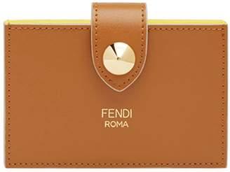 Fendi press stud cardholder wallet