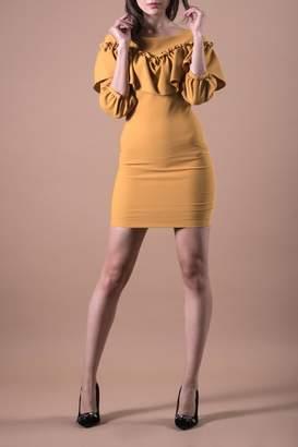 A.N.A PEREZ Yellow Casual Dress