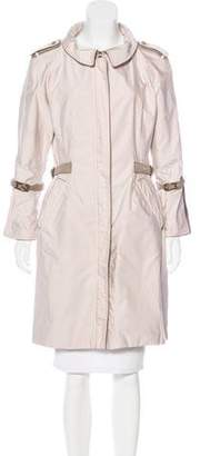 Ermanno Scervino Knee-Length Zip-Up Coat