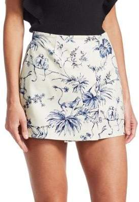 RED Valentino Floral Cotton Skort