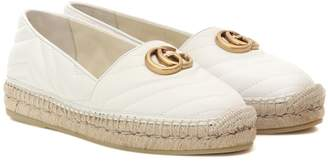Gucci Quilted leather espadrilles