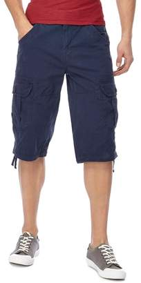 Mantaray Big And Tall Navy Slub Shorts